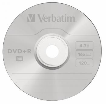 Диск DVD+R Verbatim 4.7Gb 16x Cake Box (100шт) (43551)