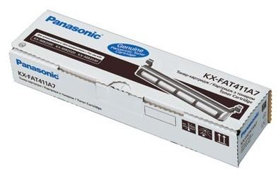 Картридж лазерный Panasonic KX-FAT411A7 черный (2000стр.) для Panasonic KX-MB1900/2000/2010/2020/2030/2051/2061