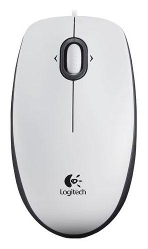Мышь Logitech M100 белый оптическая (1000dpi) USB1.1 (2but)