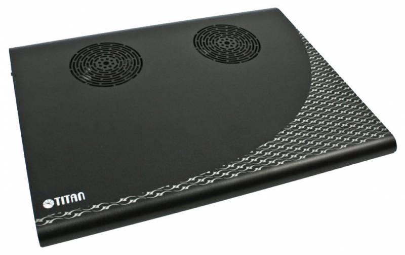 Подставка для ноутбука Titan TTC-G3TZ325x263.5x29мм 16.9дБ 2x 70ммFAN алюминий черный