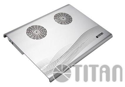Подставка для ноутбука Titan TTC-G3TZ/SB325x263.5x29мм 16.9дБ 4xUSB 2x 70ммFAN алюминий серебристый