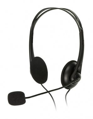 Наушники с микрофоном A4 HS-6 черный 2м накладные оголовье