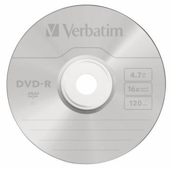 Диск DVD-R Verbatim 4.7Gb 16x bulk (10шт) (43729)