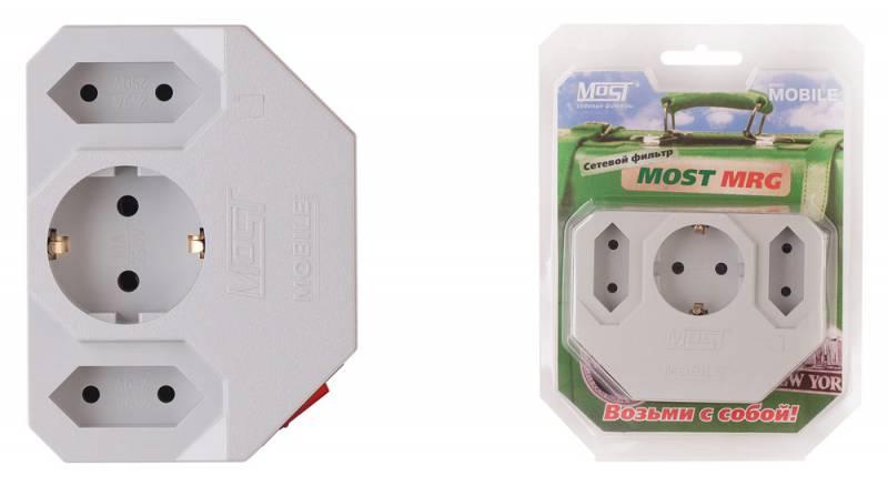 Сетевой фильтр Most MRG (3 розетки) белый (коробка)