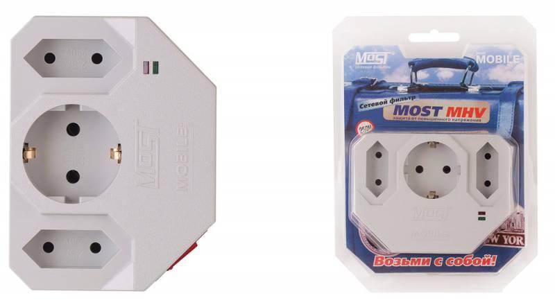 Сетевой фильтр Most MHV (3 розетки) белый (коробка)