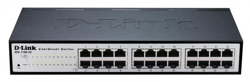 Коммутатор D-Link DES-1100-24/A2A 24x100Mb управляемый
