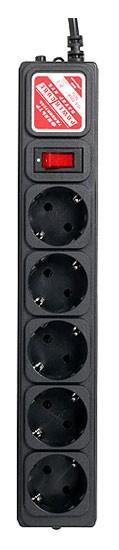 Сетевой фильтр Powercube SPG-B-6-BLACK 1.9м (5 розеток) черный (коробка)