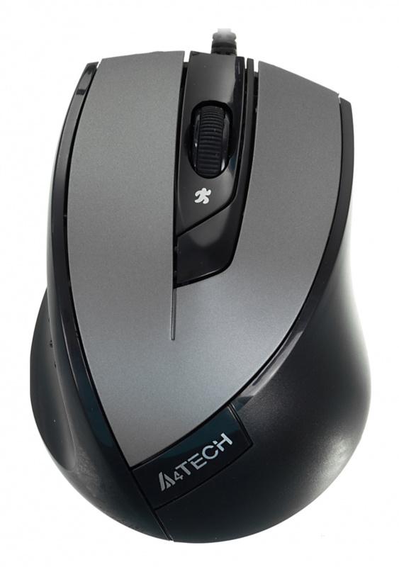 Мышь A4 V-Track Padless N-600X-2 серый оптическая (1600dpi) USB (3but)