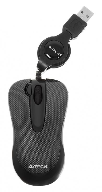 Мышь A4 V-Track Padless N-60F-2 черный оптическая (1000dpi) USB2.0 (3but)