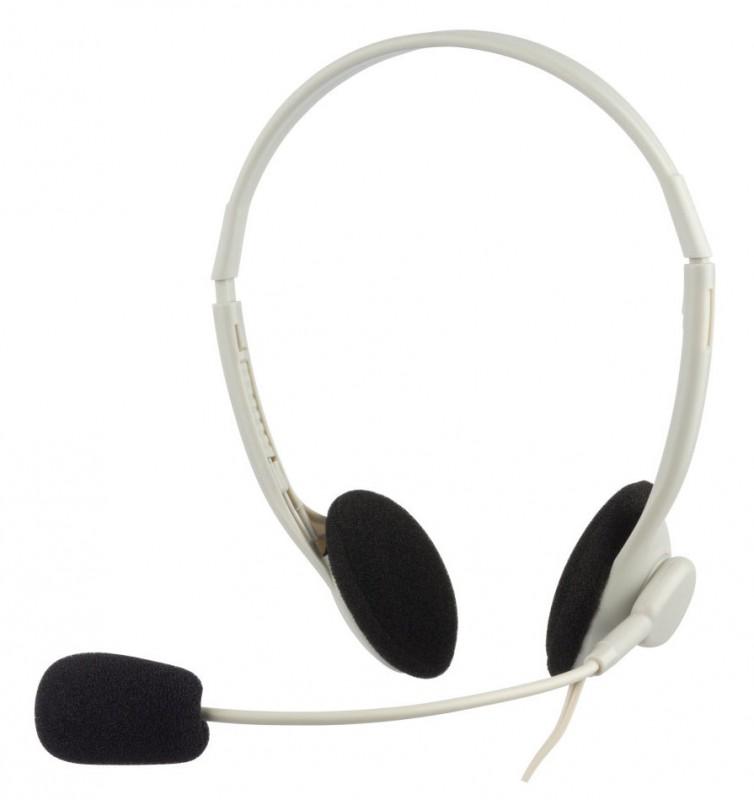 Наушники с микрофоном Oklick HS-M143VW белый 1.8м накладные оголовье