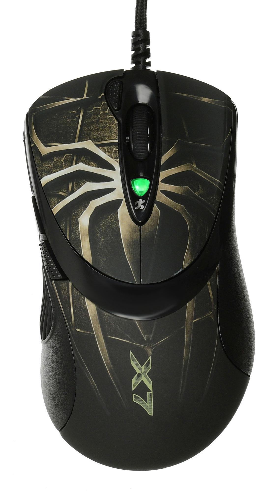 Мышь A4 Oscar Editor XL-747H коричневый/рисунок лазерная (3600dpi) USB2.0 игровая (6but)