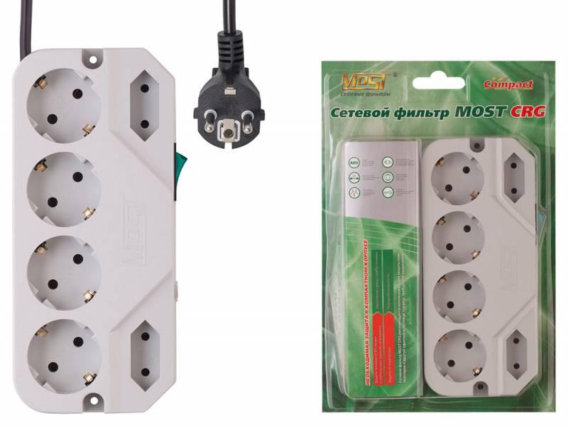 Сетевой фильтр Most СRG 2м (6 розеток) белый (коробка)