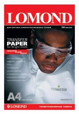 Термотрансфер Lomond 0808411 A4/140г/м2/10л./белый для струйной печати