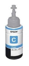 Картридж струйный Epson T6642 C13T66424A голубой (70мл) для Epson L100