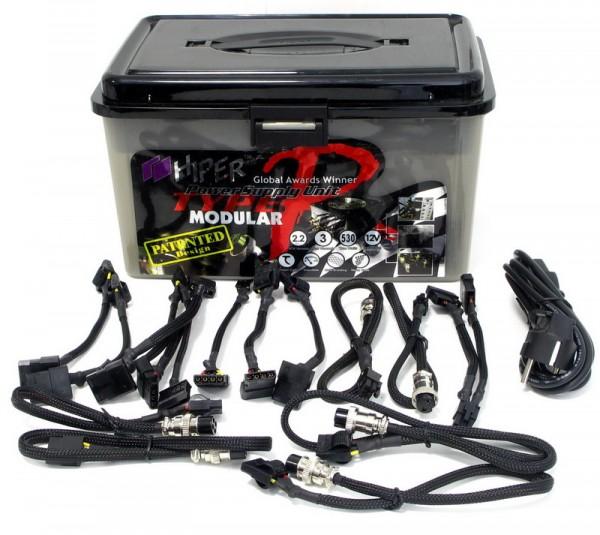 Блок питания Hiper HPU-4K530-MU 530W ATX Type R Modular Sli Cert Black APFC - фотография 4.