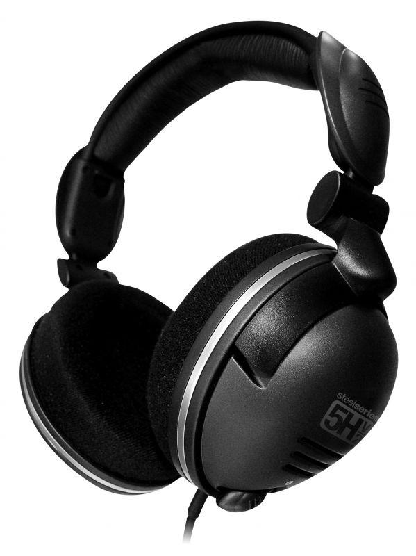 Наушники с микрофоном Steelseries 5H v2 USB черный 1м мониторы оголовье (61001)