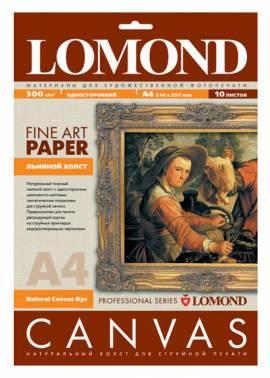 Холст Lomond 0908411 A4/300г/м2/10л./белый матовое лён для струйной печати