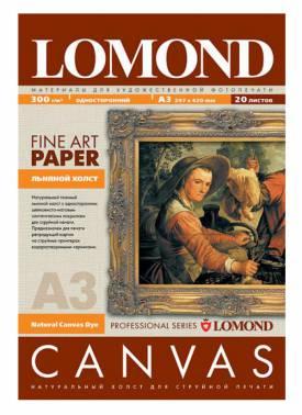 Холст Lomond 0908312 A3/300г/м2/20л./белый матовое для струйной печати