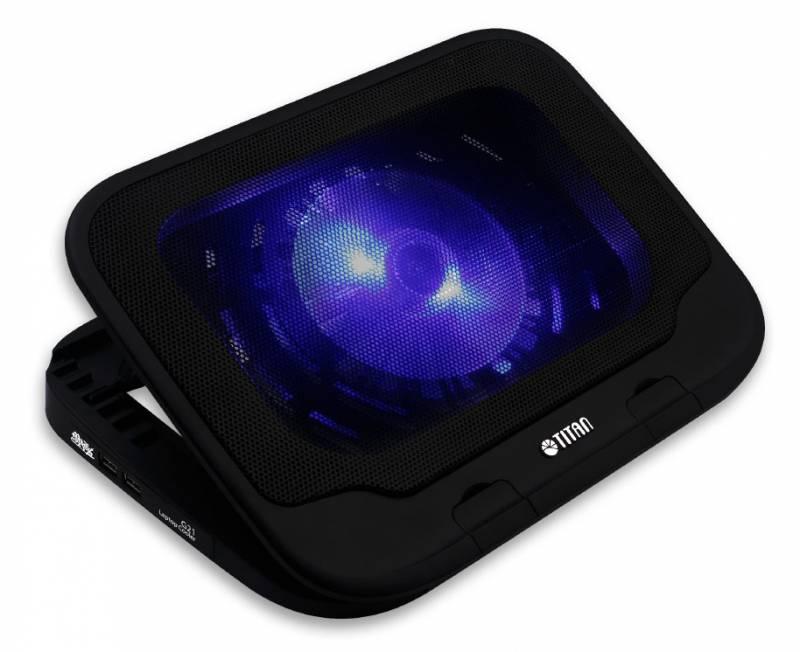 """Подставка для ноутбука Titan TTC-G21T 15""""355x260x40мм 19дБ 2xUSB 1x 130ммFAN черный"""