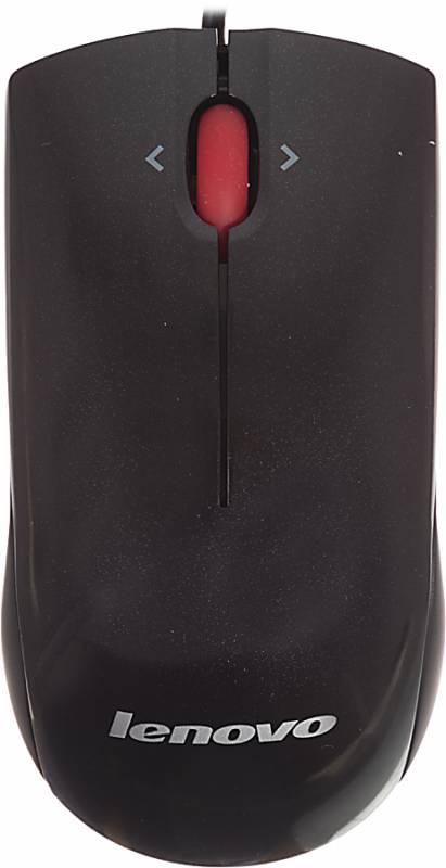 Мышь Lenovo MOBGULA черный лазерная (2000dpi) USB (2but)