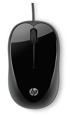 Мышь HP X1000 черный оптическая (1600dpi) USB (2but)
