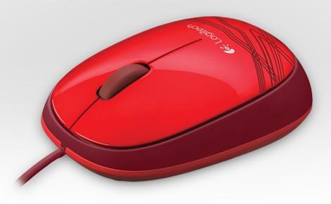 Мышь Logitech M105 красный оптическая (1000dpi) USB (2but)