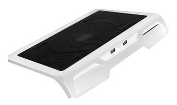 """Подставка для ноутбука Titan TTC-G25T/W2 17""""384x312x54мм 20дБ 2xUSB 1x 200ммFAN металлическая сетка/пластик белый"""
