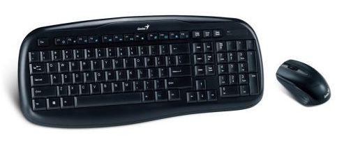 Клавиатура + мышь Genius KB-8000 клав:черный мышь:черный USB ...