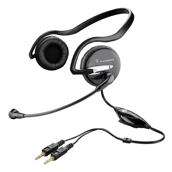 Наушники с микрофоном Plantronics A345 черный 2.5м накладные оголовье (37855-02)