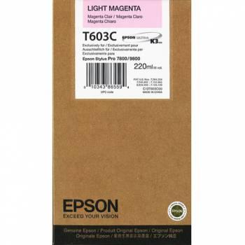 Картридж струйный Epson C13T603C00 светло-пурпурный для Epson St Pro 7800/9800 (220мл)