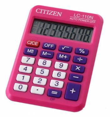 Калькулятор карманный Citizen Cool4School LC-110NPK розовый 8-разр.