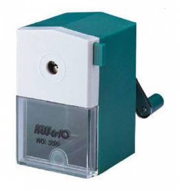 Точилка для карандашей механическая Kw-Trio 305grn 1 отверстие 8мм пластик зеленый