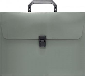 Портфель Бюрократ -BPP01GREY 1 отдел. A4 пластик 0.7мм серый