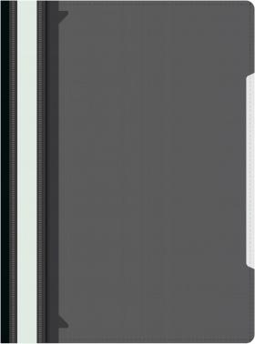 Папка-скоросшиватель Бюрократ -PS-K20BLCK A4 прозрач.верх.лист карм.на лиц.стор. пластик черный 0.12/0.16