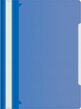 Папка-скоросшиватель Бюрократ -PS-K20BLU A4 прозрач.верх.лист карм.на лиц.стор. пластик синий 0.12/0.16