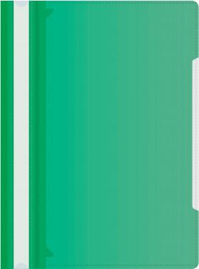 Папка-скоросшиватель Бюрократ -PS-K20GRN A4 прозрач.верх.лист карм.на лиц.стор. пластик зеленый 0.12/0.16