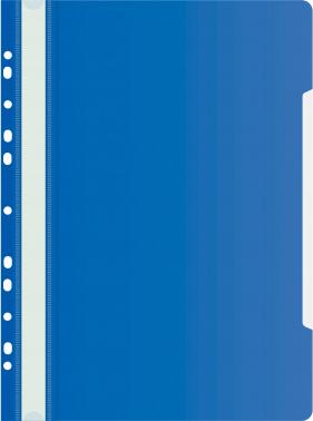Папка-скоросшиватель Бюрократ -PS-P20BLU A4 прозрач.верх.лист боков.перф. пластик синий 0.12/0.16