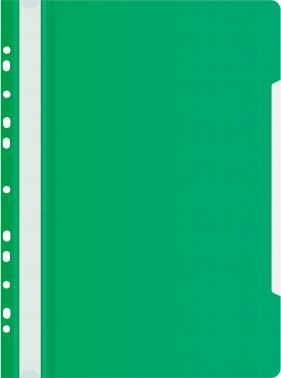 Папка-скоросшиватель Бюрократ -PS-P20GRN A4 прозрач.верх.лист боков.перф. пластик зеленый 0.12/0.16
