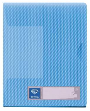 Папка-уголок Бюрократ Crystal -CR540BLUE 3 внутр.клапан выруб.застежка A4 пластик 0.50мм голубой