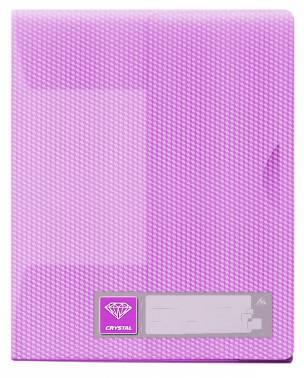 Папка-уголок Бюрократ Crystal -CR540VIO 3 внутр.клапан выруб.застежка A4 пластик 0.50мм фиолетовый