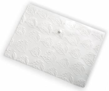 "Конверт на кнопке Бюрократ -PK810CLEAR A4 с рисунком ""Листочки"" 0.18мм прозрачный"