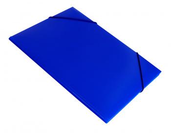 Папка на резинке Бюрократ -PR04BLU A4 пластик кор.15мм 0.4мм синий