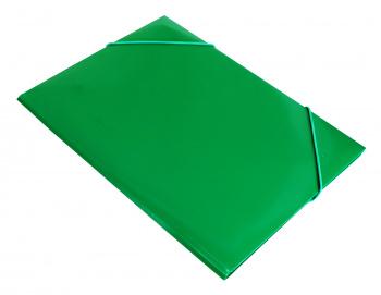 Папка на резинке Бюрократ -PR04GRN A4 пластик кор.15мм 0.4мм зеленый