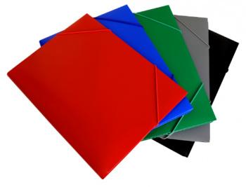 Папка на резинке Бюрократ -PR05 A4 пластик кор.30мм 0.5мм ассорти
