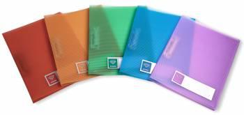 Папка метал.зажим Бюрократ Crystal -CR05C A4 пластик 0.5мм ассорти