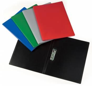 Папка метал.зажим Бюрократ Economy -EC04C A4 пластик 0.4мм ассорти