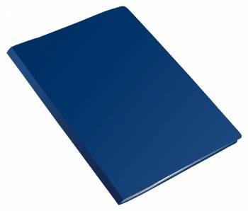 Папка метал.зажим Бюрократ Economy -EC04CBLUE A4 пластик 0.4мм синий