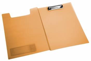 Папка клип-борд Бюрократ Crystal -CR602OR A4 пластик 0.7мм оранжевый