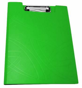 Папка клип-борд Бюрократ Galaxy -GA602LETT A4 пластик 1мм салатовый