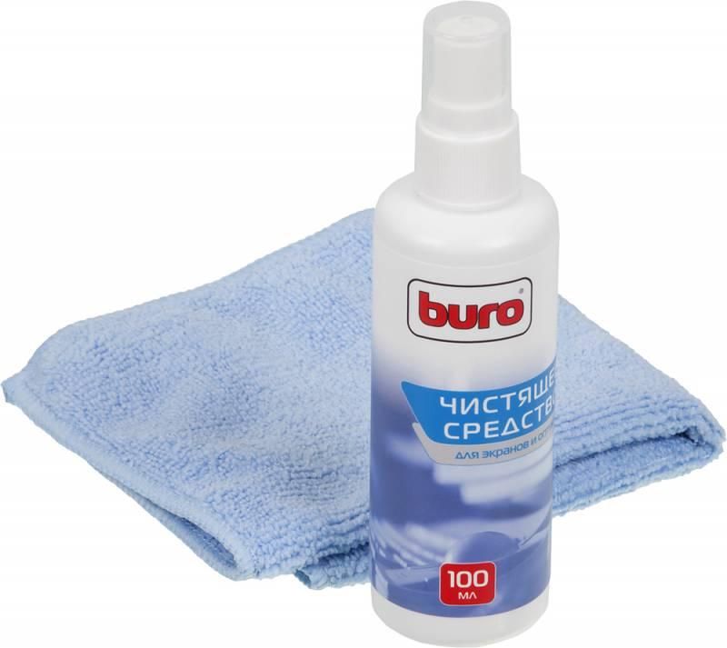 Чистящий набор (салфетки + гель) Buro BU-S/MF для экранов и оптики блистер 100мл